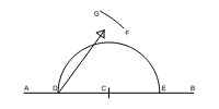 draw an Arch above point C from point G to F